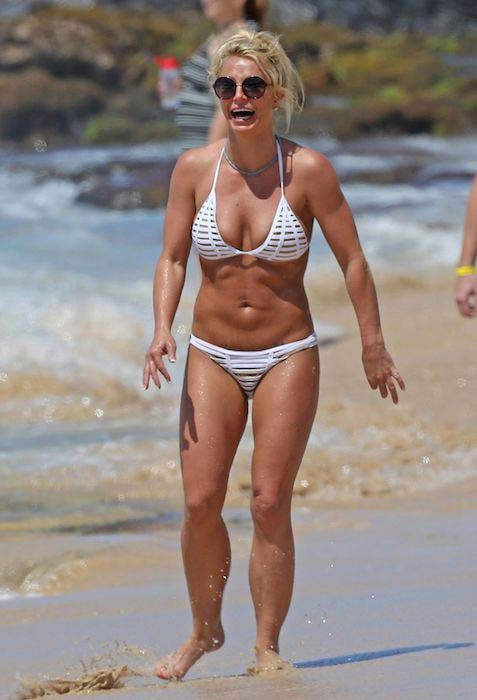 Britney Spears in bikini in Kauai, Hawaii in April 2017