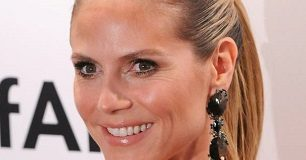 Heidi Klum face closeup