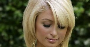 Paris Hilton face closeup