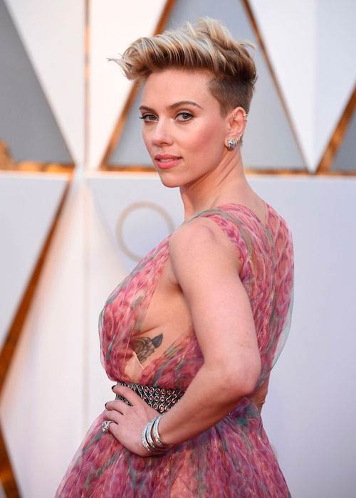 Scarlett Johansson at Oscars 2017 in Hollywood