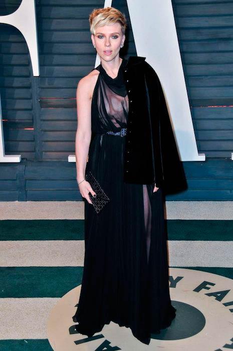 Scarlett Johansson during 2017 Vanity Fair Oscar Party