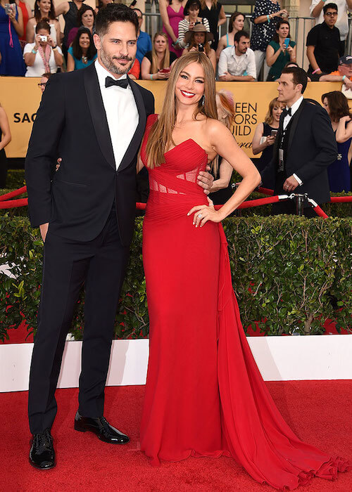 Sofia Vergara and Joe Manganiello at SAG Awards 2015