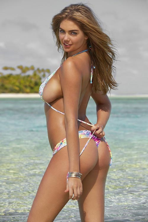 Kate Upton posing for Sports Illustrated Swimsuit Issue