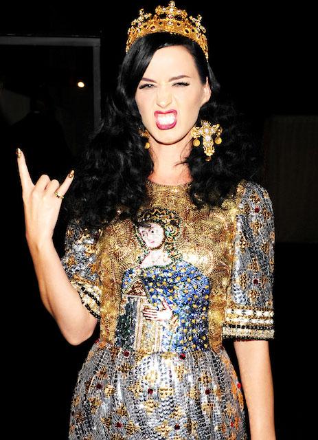 Katy Perry during Met Gala 2013