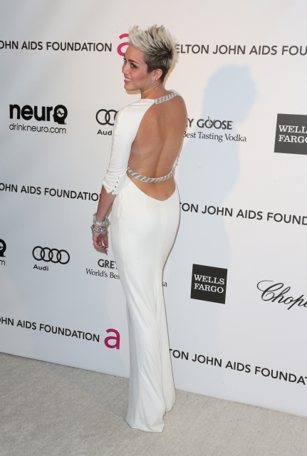 Miley Cyrus 2013 Elton John Aids Foundation