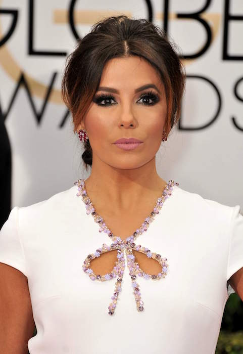 Eva Longoria at 2016 Golden Globe Awards