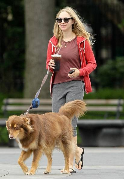 Amanda Seyfried with her dog Finn