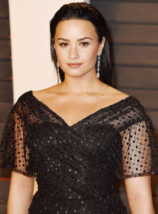 Demi Lovato at 2016 Vanity Fair Oscar Party