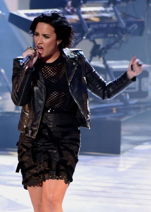 Demi Lovato during American Idol in March 2016