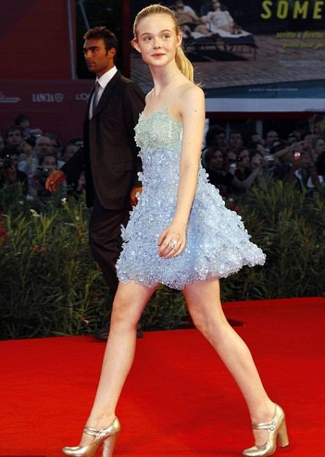 Elle Fanning walking on the red carpet
