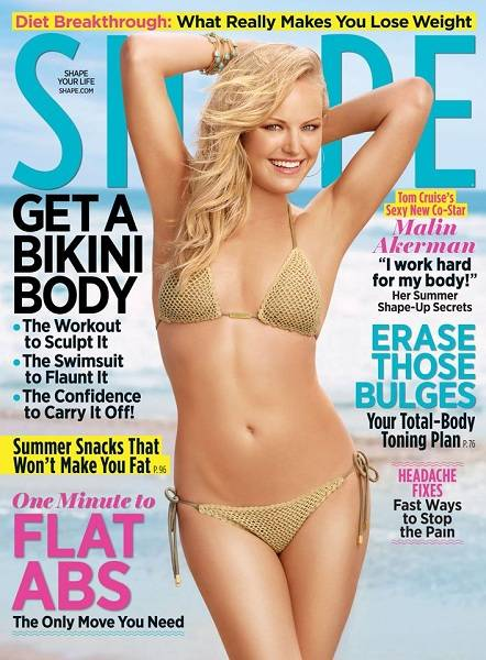 Malin Akerman on the cover of Shape Magazine