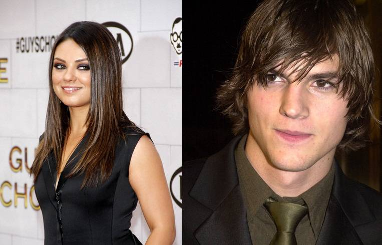 Mila Kunis with Ashton Kutcher
