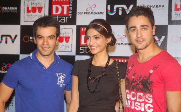 Sonam Kapoor with Punit and Imraan Khan