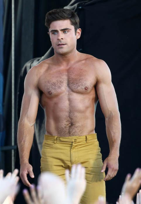 Zac Efron shirtless body