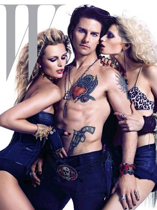 Edita Vilkeviciute (Left), Tom Cruise and Abbey Lee (Right)