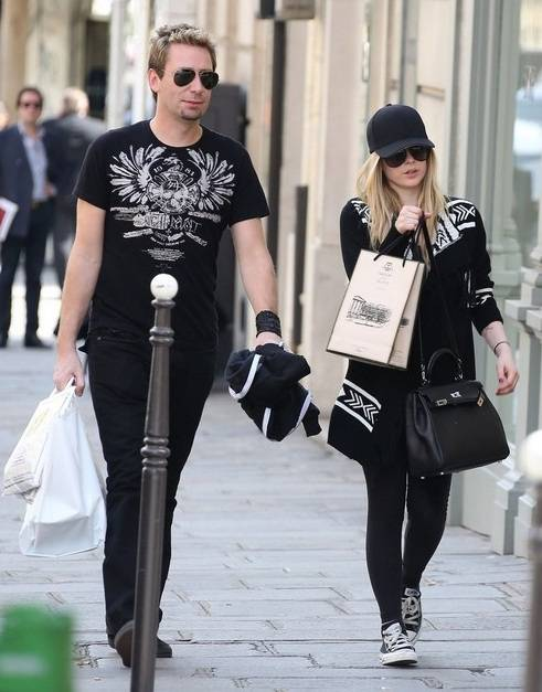 Avril Lavigne with Chad Kroeger
