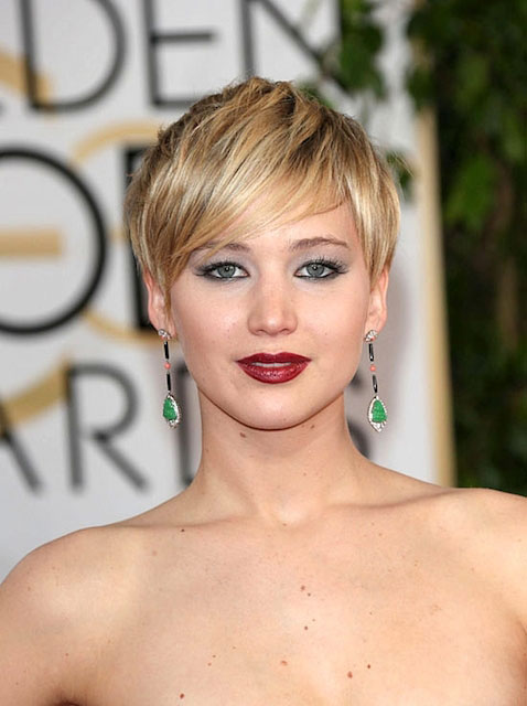 Jennifer Lawrence during Golden Globe Awards 2014