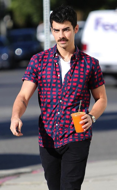Joe Jonas moustache 2013