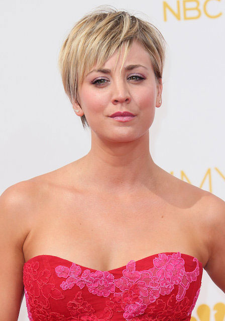 Kaley Cuoco at Emmy Awards 2014.