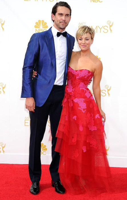 Ryan Sweeting and Kaley Cuoco at Emmy Awards 2014.
