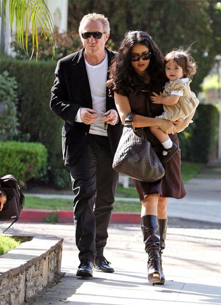 Salma Hayek with Francois-Henri Pinault and their cute daughter Valentina