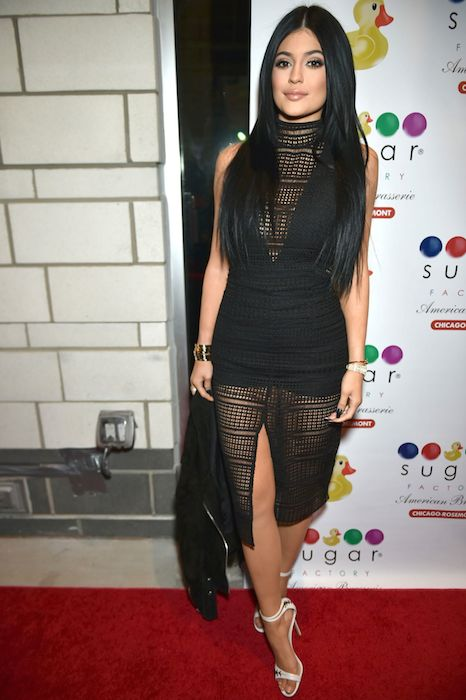 Kylie Jenner at the Sugar Factory Grand Opening in Chicago in February 2015.
