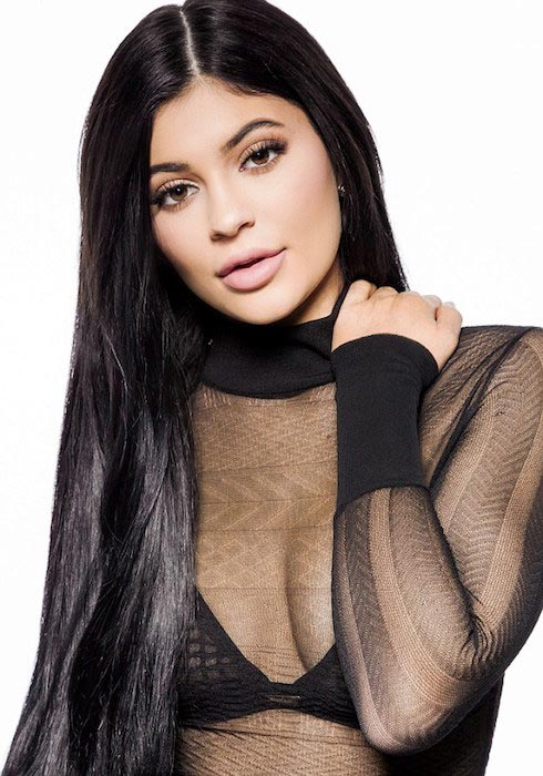 Kylie Jenner posing for Nip + Fab beauty campaign in February 2016