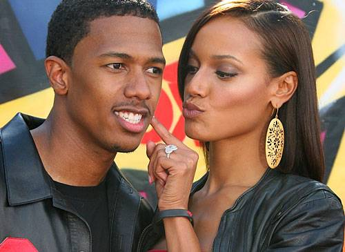Selita Ebanks with Nick Cannon