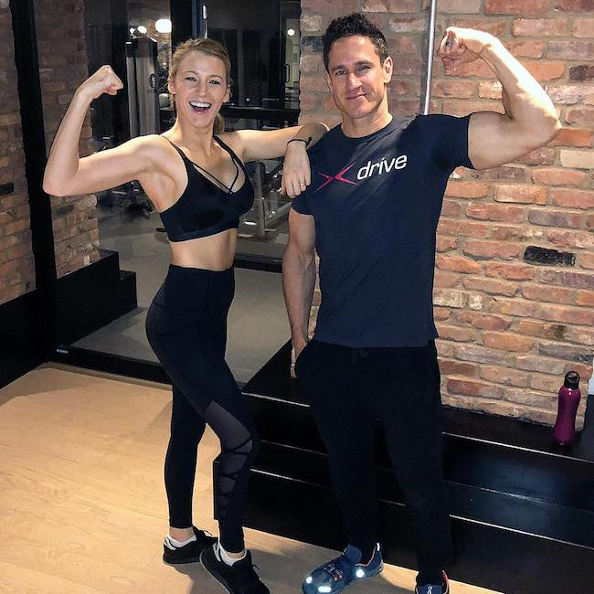 Blake Lively with trainer Don Saladino in February 2018