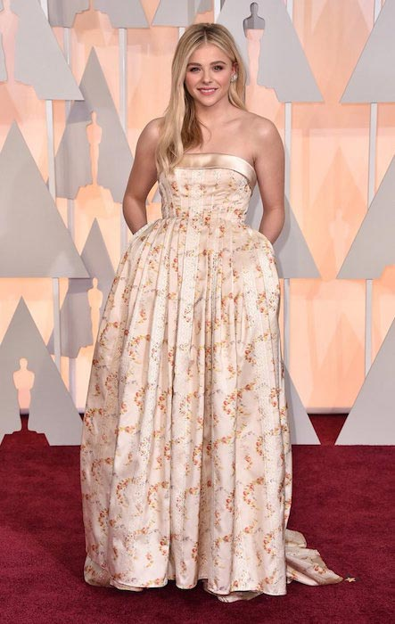 Chloe Grace Moretz at 2015 Academy Awards