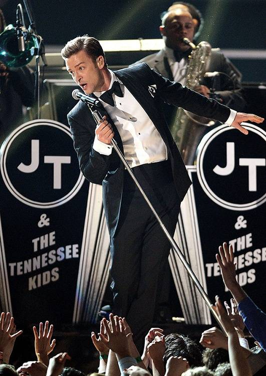 Justin Timberlake during Grammys 2013