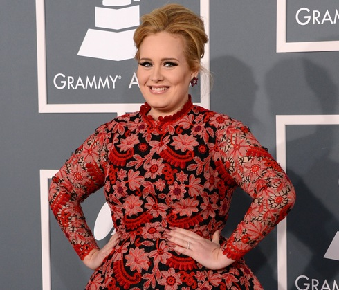Adele during Grammys 2013