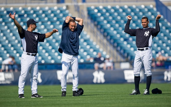 Derek Jeter New York Yankees Workout