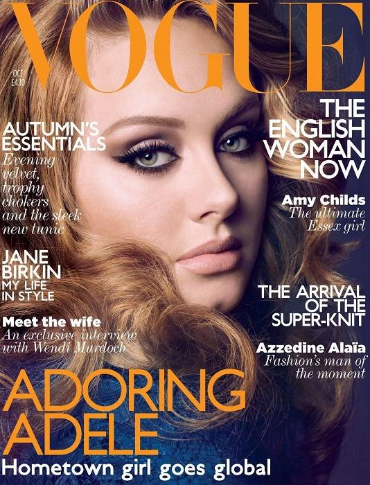 adele vogue magazine uk appearance