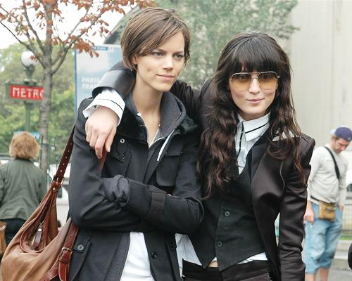 Freja Beha Erichsen and Irina Lazareanu