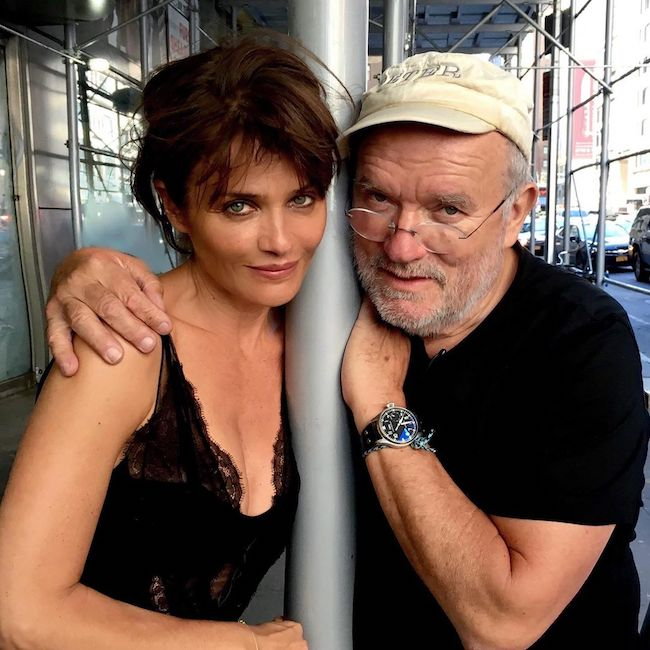Helena Christensen with Peter of Peter Lindbergh Foundation in September 2020