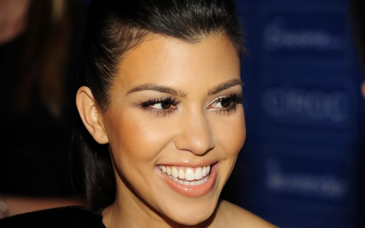Kourtney Kardashian face closeup