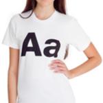 american apparel unisex alphabet helvetica t-shirt large