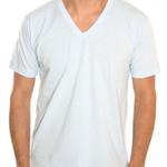 American Apparel Unisex Fine Jersey Short Sleeve V Neck