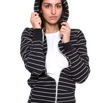 American Apparel Unisex Striped Fleece Zip Hoody