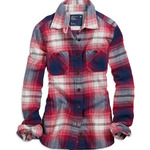 American Eagle Shrunken Bonfire Flannel Shirt