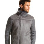 armani exchange core faux shearling jacket large