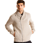 armani exchange shawl collar hoodie sweater