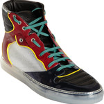 balenciaga multicolor high top sneakers
