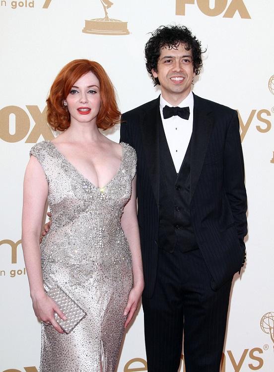 Christina Hendricks with her husband Geoffrey Arend