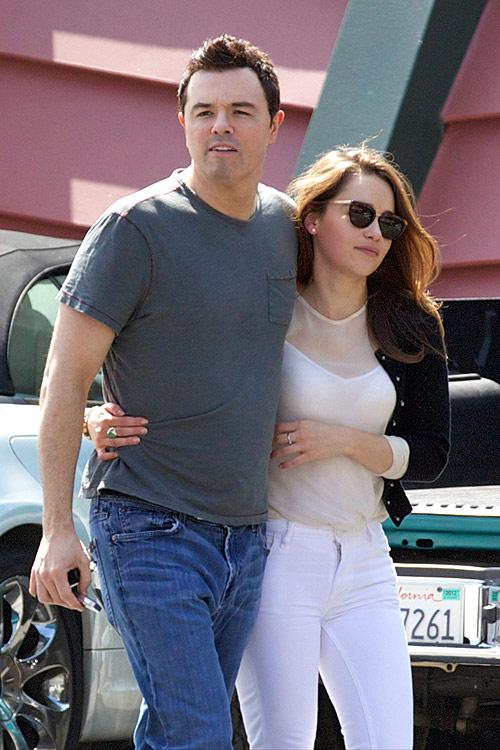 Emilia Clarke with Seth Macfarlane