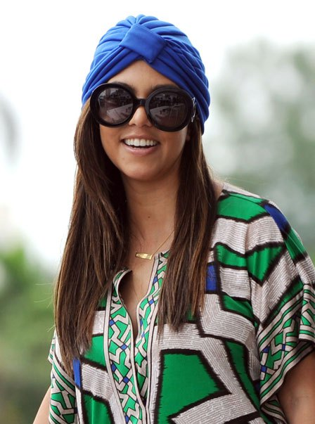 kourtney kardashian turban hair accessory