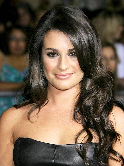 lea michele face closeup