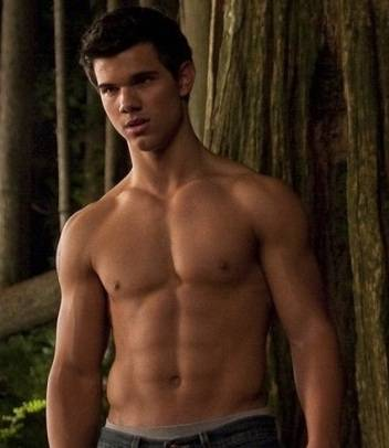 taylor lautner body and his 6 pack abs for his role as Jacob Black in Twilight series.