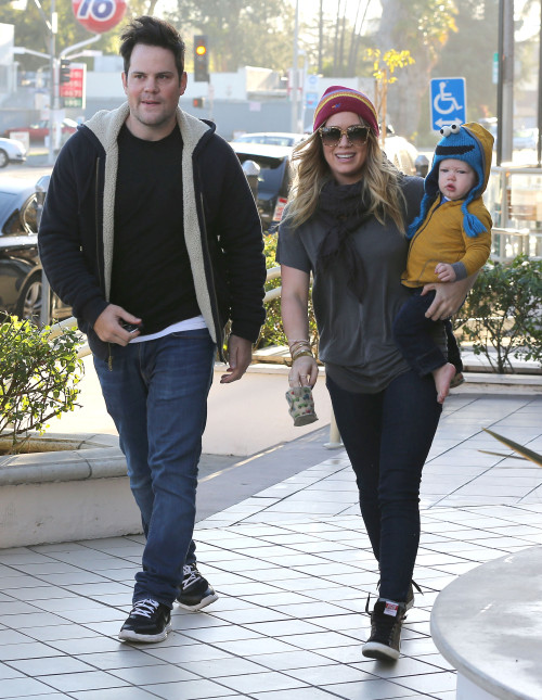 Hilary Duff with family